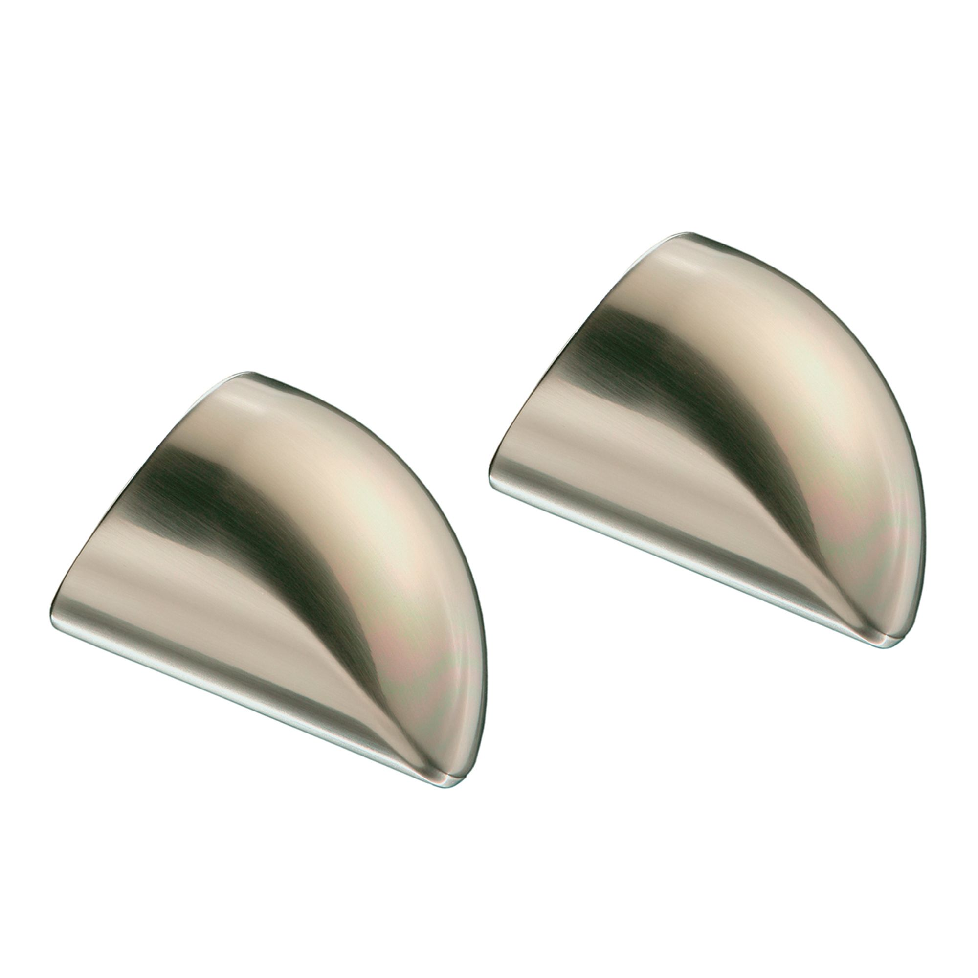 Fusion Brushed Nickel Handrail End Caps For 54mm Mopstick