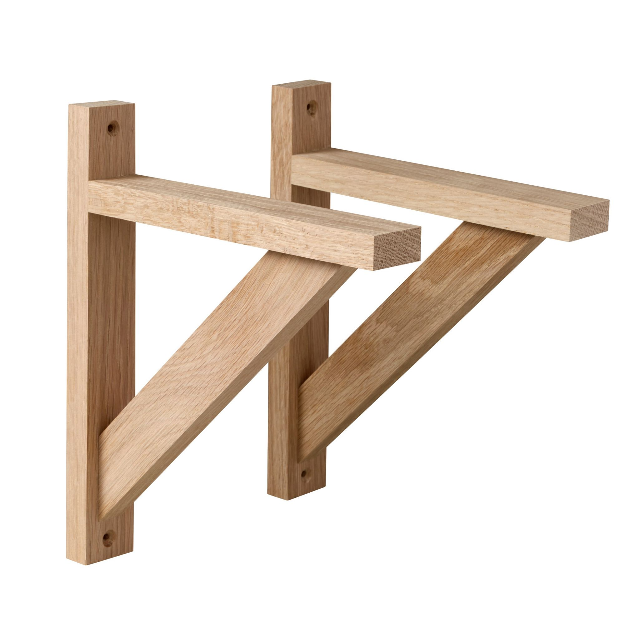 OAK WALL SHELF BRACKETS