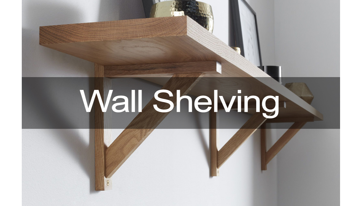 oak wall shelving