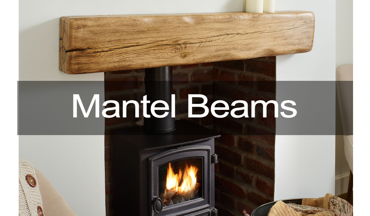 oak beams and mantels